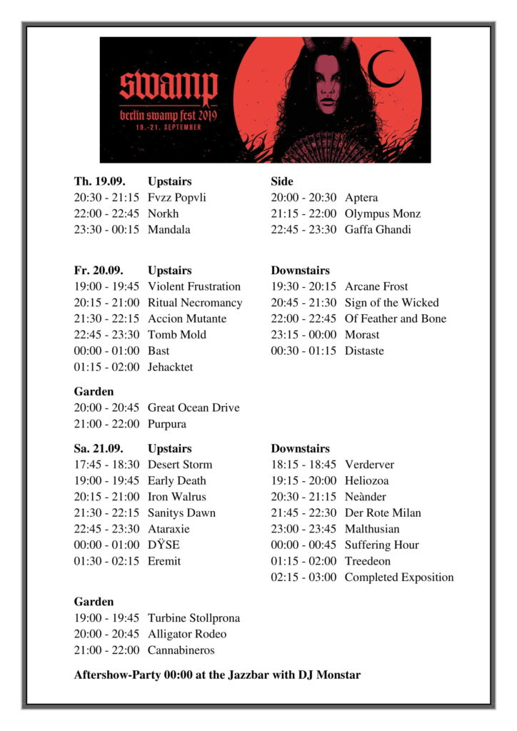 Running-Order-Berlin-Swamp-Fest-2019