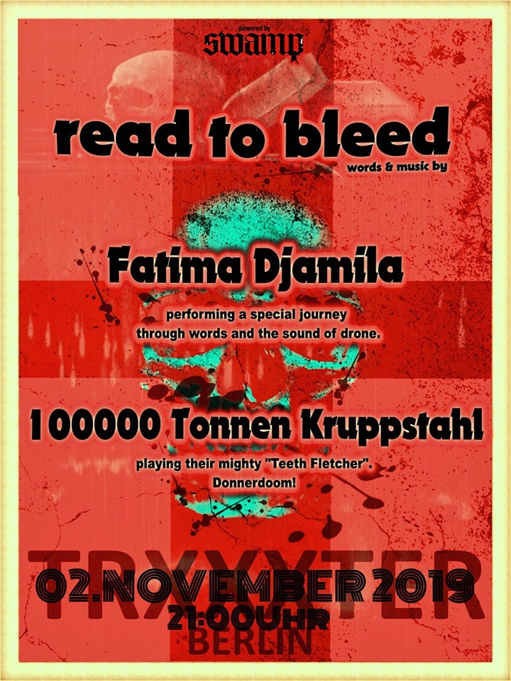 Flyer-Read-to-Bleed-Fatima-Djamila-100000-Tonnen-Kruppstahl